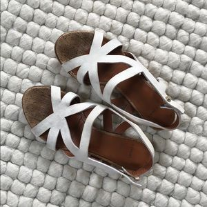 Givenchy cream suede sandals size 6 / 36
